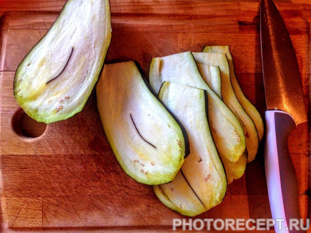 Фото рецепта - Баклажаны с чесноком, на гриле - шаг 1