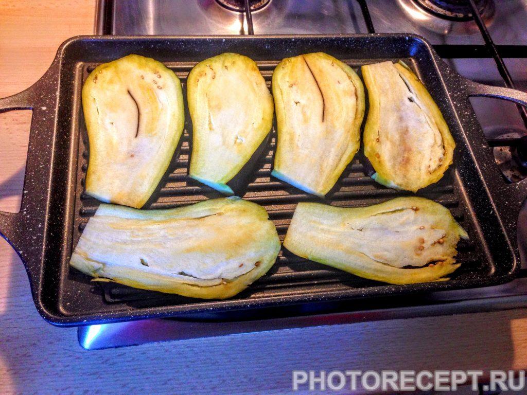 Фото рецепта - Баклажаны с чесноком, на гриле - шаг 2