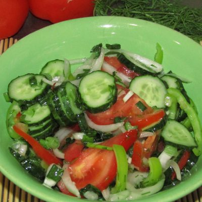 Первый веснний салат - рецепт с фото