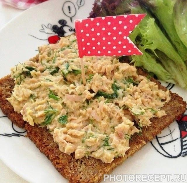 Салат-паштет из морской капусты и консервированной рыбы «Золотая рыбка»