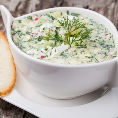 Летний суп – окрошка на кефире - рецепт с фото