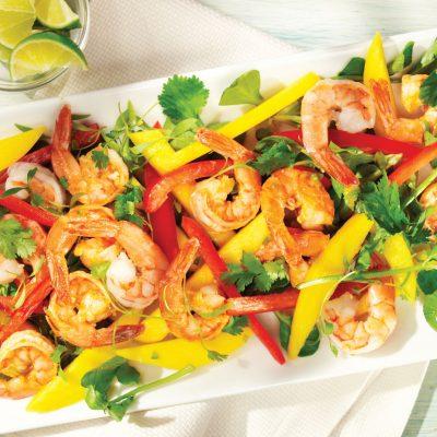 Изысканный сочный салат из креветок и манго - рецепт с фото