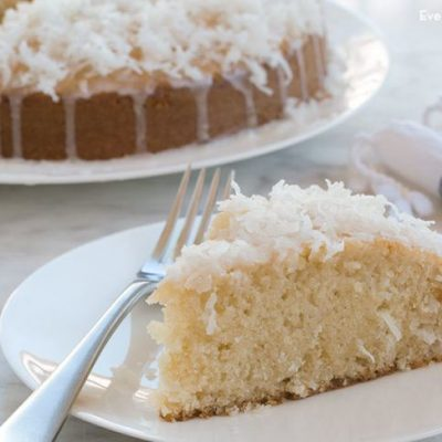 Кекс на белках с кокосовой стружкой - рецепт с фото