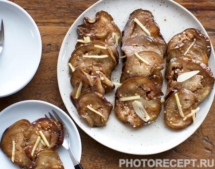 Маринованные баклажаны с хреном и имбирем