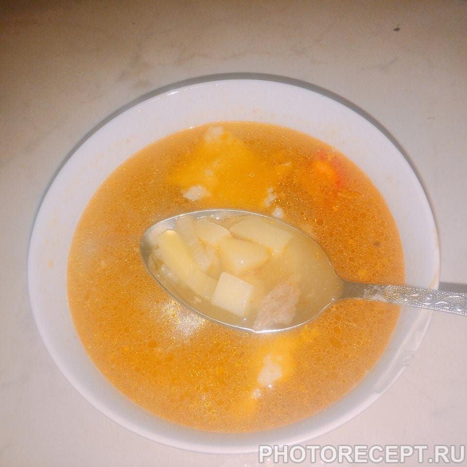 Суп с галушками
