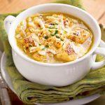 Постный луковый суп на овощном бульоне
