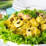 Праздничный салат из индейки с манго