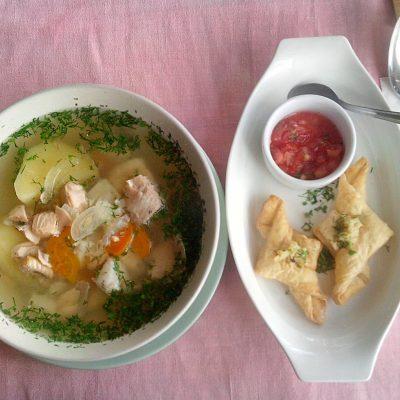 Уха из судака и лосося - рецепт с фото