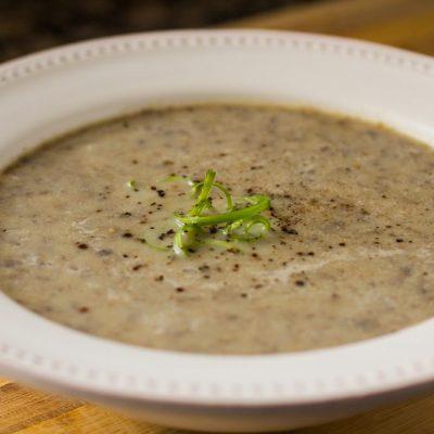 Суп-пюре  из шампиньонов - рецепт с фото