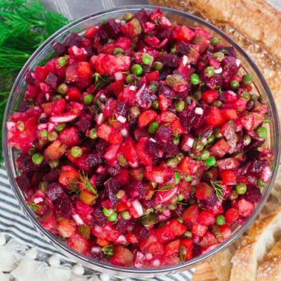 Винегрет с зеленым горошком - рецепт с фото