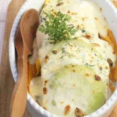 Запеченная капуста кольраби с сыром - рецепт с фото