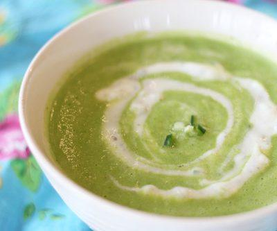 Кабачковый суп-пюре на сливках для детей - рецепт с фото