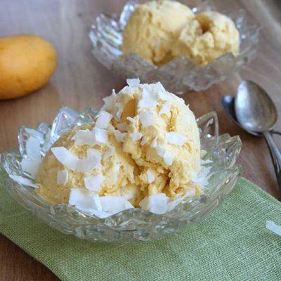 Кокосово-манговый сорбет - рецепт с фото