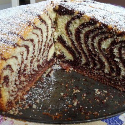 Красивый и вкусный торт «Зебра» - рецепт с фото