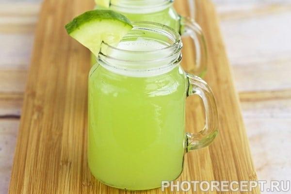 Освежающий огуречный лимонад