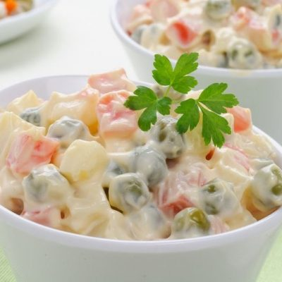 Овощной салат «Оливье постный» - рецепт с фото