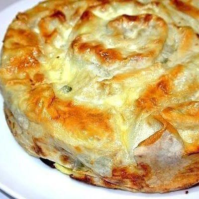 Пирог из лаваша с фаршем и сыром - рецепт с фото