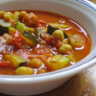 Рагу из кабачков, томатов с горохом нут, в мультиварке - рецепт с фото