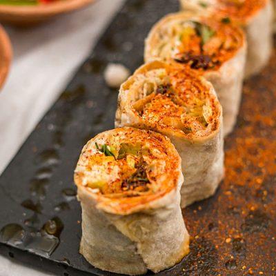 Роллы из лаваша с перцем – закуска к пиву - рецепт с фото