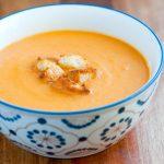 Тыквенный суп-пюре с картофелем и сыром