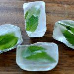 Замороженный лед с мятой