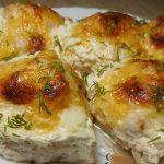 Куриные шарики в сырно – сливочном соусе