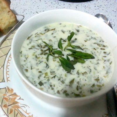 Довга  бакинская — холодный суп - рецепт с фото