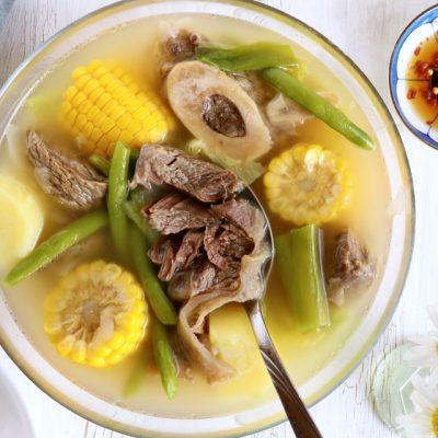 Филиппинский суп из говядины с овощами - рецепт с фото