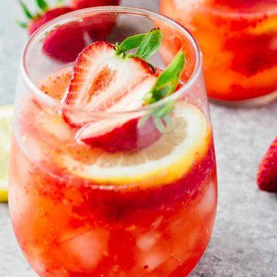 Клубничный лимонад - рецепт с фото