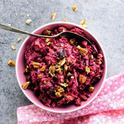 Салат из свеклы с черносливом и орешками - рецепт с фото