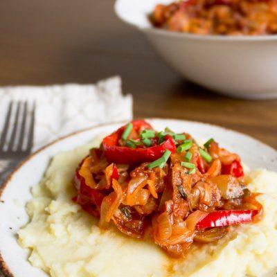 Тушеная капуста с перцем и помидорами - рецепт с фото