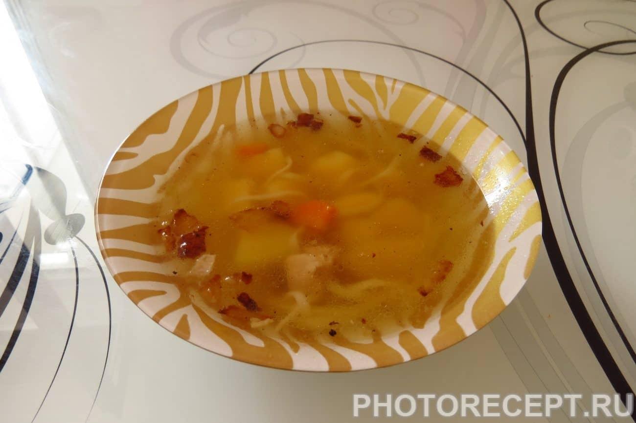Суп куриный от холостяка