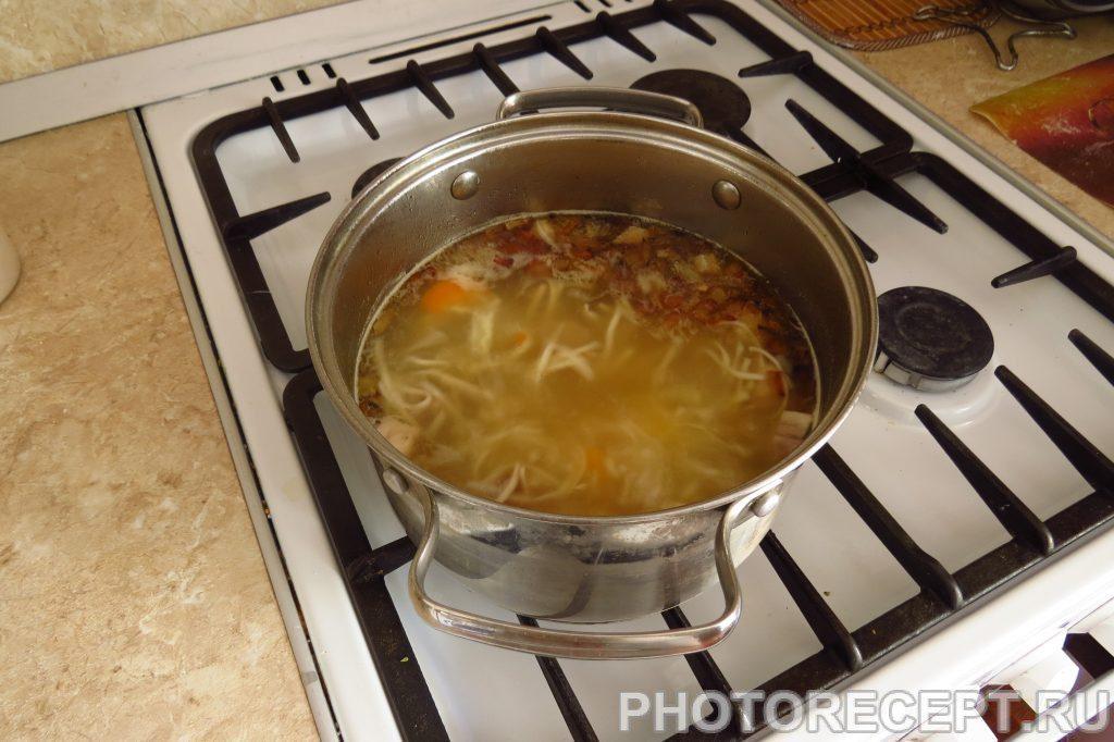 Фото рецепта - Суп куриный от холостяка - шаг 10