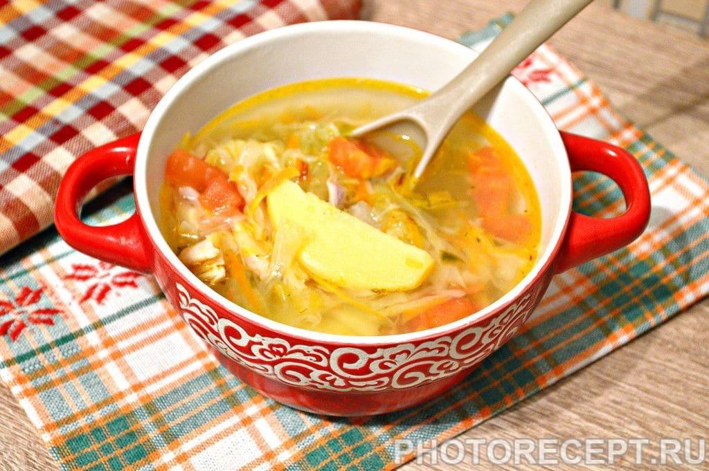 Фото рецепта - Щи со свежей капустой и курицей - шаг 6