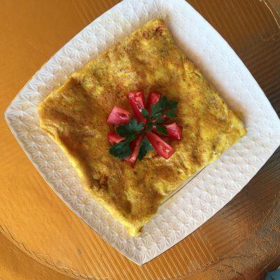 Фото рецепта - Яичница с помидорами и сыром - шаг 7