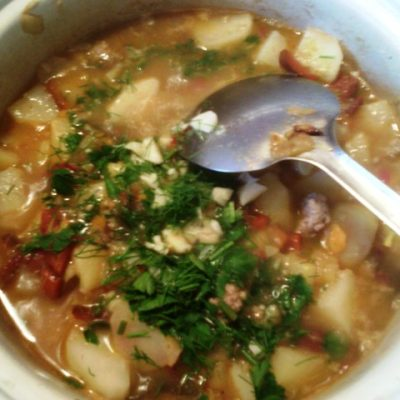 Фото рецепта - Овощное рагу с фрикадельками - шаг 8