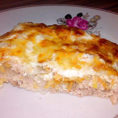 Горбуша, запеченная в духовке под шубкой - рецепт с фото