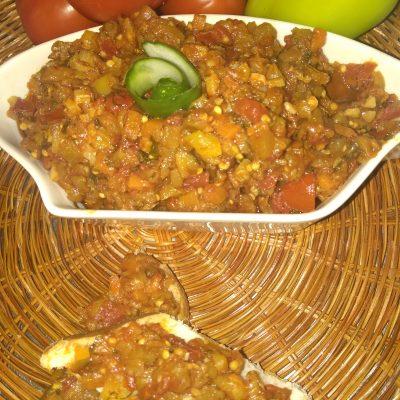 Овощной тар-тар с баклажанами - рецепт с фото