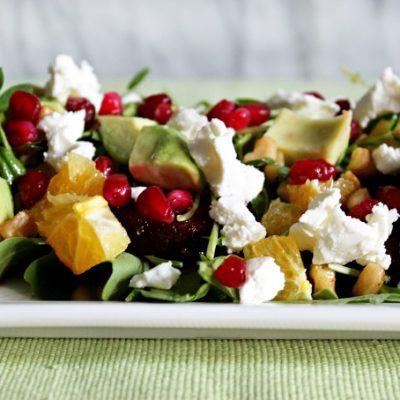 Цитрусовый салат с авокадо, свеклой и сыром - рецепт с фото