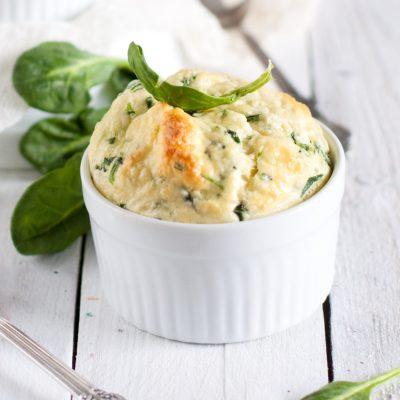 Диетическое суфле из шпината и сыра - рецепт с фото