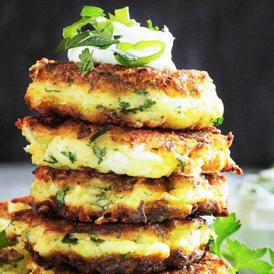 Котлеты из кабачков и сыра фета - рецепт с фото