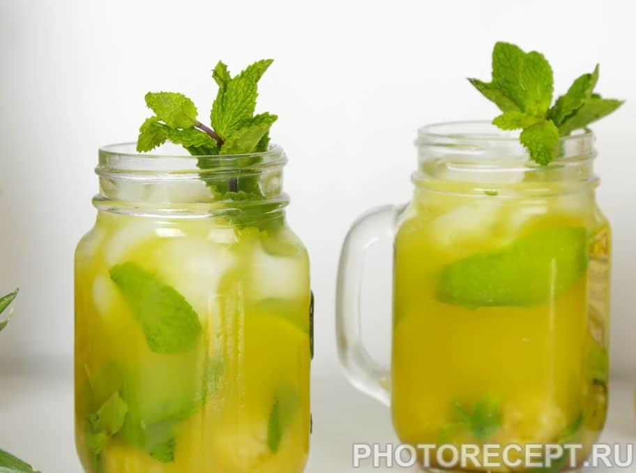 Лимонад из ананаса и яблока «Дерзкая мята»