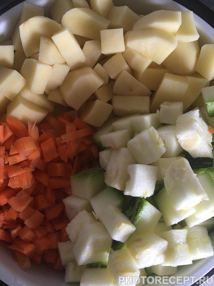 Фото рецепта - Овощное рагу с говядиной - шаг 1