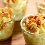 Оригинальный десерт с белым шоколадом и мандаринами
