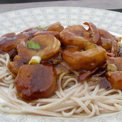 Паста с креветками в необычном соусе - рецепт с фото