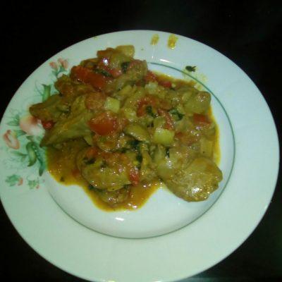 Печень куриная по-индийски - рецепт с фото