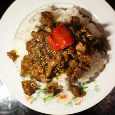 Куриные желудки по-тайски - рецепт с фото