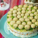 Салат «Грибная поляна» с курицей и овощами