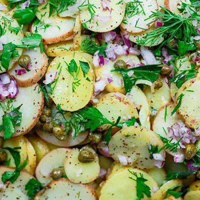 Закуска в виде картофельного салата - рецепт с фото