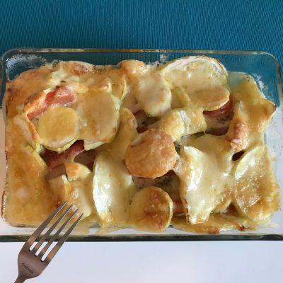 Сочная курочка с помидорами и кабачками в духовке - рецепт с фото